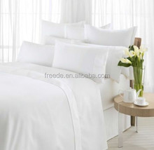 100% cotton sateen stripe fabric for hotel bedding set