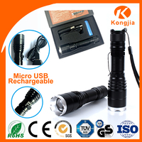 Aluminum Zoomable Flashlight High Power Manufacturer Rechargeable Cutting Torch