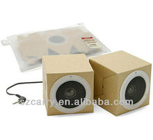 speaker a pair paper fold with dry battery
