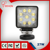 Auto lighting product 12v 24v high quality square 27W led work light for tractors