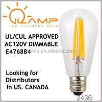 st58 flame-effect e27 led filament lamps e27 led vintage filament bulbs lighting st58 st58 e27 12 volt led filament bulb 3000k