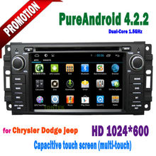 Touch screen car dvd for jeep grand cherokee Capacitive screen Radio Bluetooth TV 100% Android 4.2.2 2005 2006 2007 2008