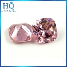 Wholesale Square Cushion Cut Pink CZ Gems Loose Cubic Zircon