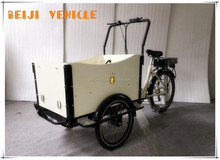 CE 250W front loading pedal car three wheel electric vehicle for cargo