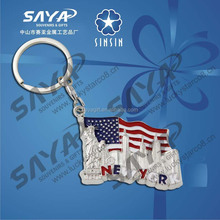 Country Style US flag metal souvenir keyring