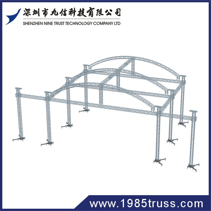 Outdoor Indoor Simple Peaked Roof Truss Cover System