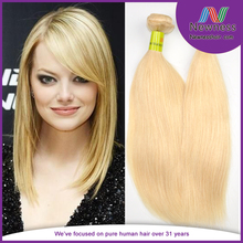 New arrival factory wholesale high Quality hair weaving 613 blonde russian human hair extensions