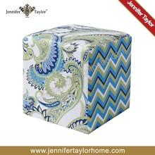 european style fabric sitting pouf ottoman