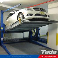 PJS Two Level 2 Post Tilt Parking Lift/ double stack parking system/ hydraulic car park lift