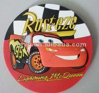 Free sample! Promotional car shape soft pvc souvenir fridge magnet