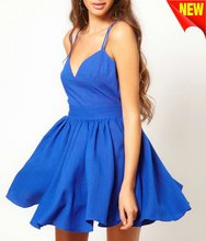 girl dress 2012 with shoe string straps D-1393