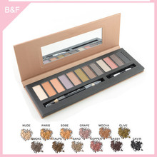 branded eyeshadow makeup palettes matte silver ferrule makeup brush kits