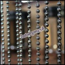 Fashion Black 6mm Beads Decorative Metal Ball Chain String Curtains