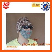 2014 New Arrival Wacky Beard Men Boy Iceland Yarn hat with beard Knit Crocheted Ski hat with beard