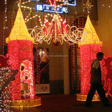 Fashionable led hotel fesival decoration hotel christmas decoration