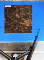 Dark brown crystal double loading glossy vitrified porcelain floor jaguar tile