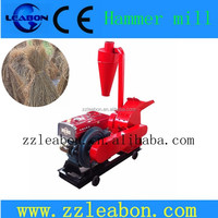 CE Approved Diesel Hammer Crusher Hay Cutter Machine with Cyclone
