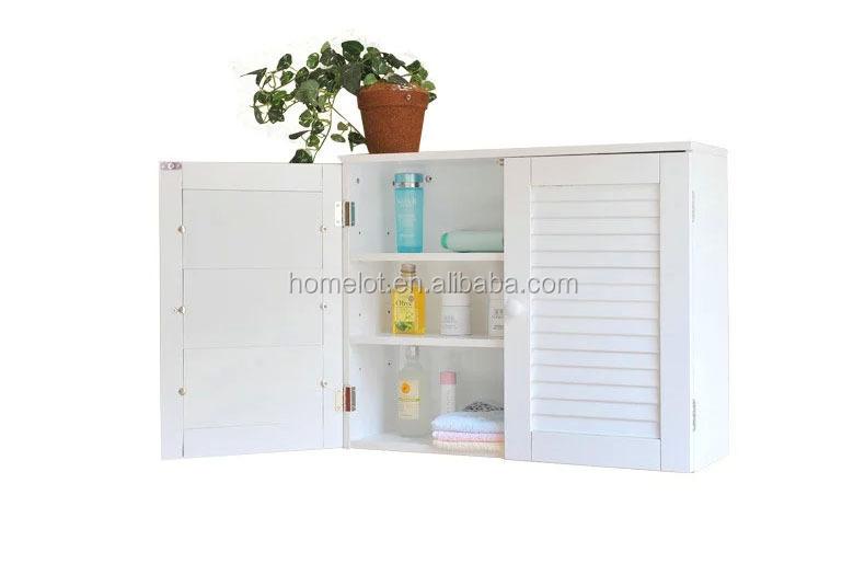 Witte muur pantry kast garage nut planken badkamer opslag keuken ...