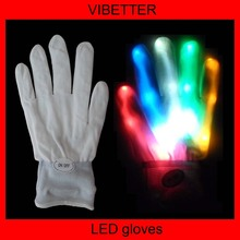 Novelty LED Flashing Gloves Colorful Finger Light Glove Christmas Halloween Party Decorations