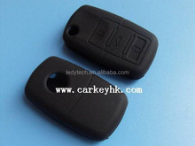 vw car silicone key house cover 3 button wholesale in black