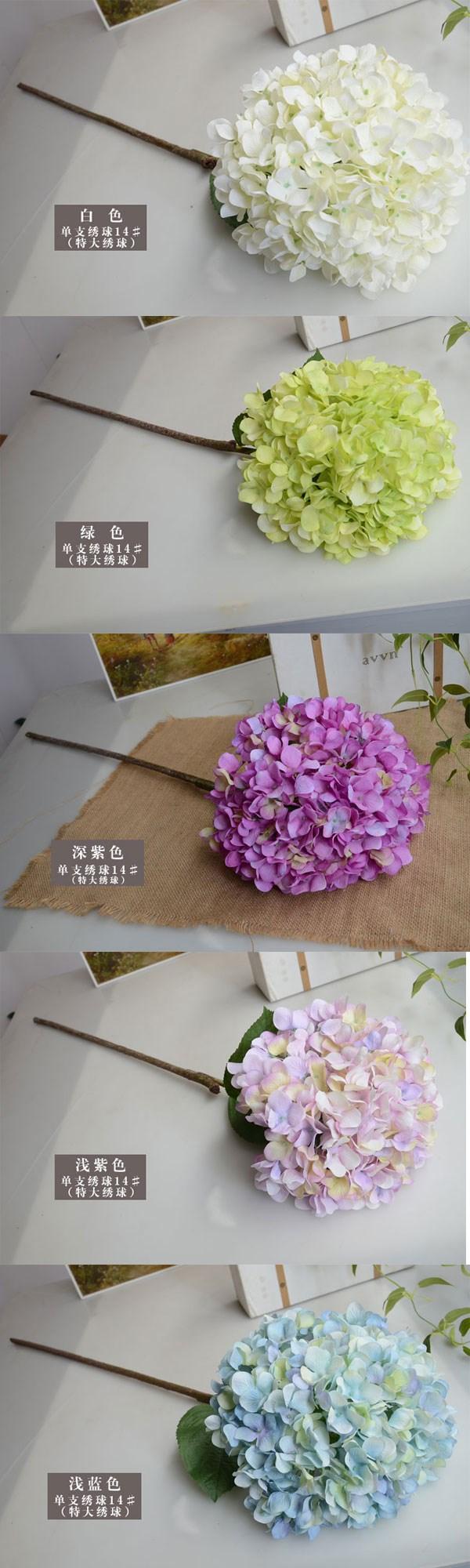 300 503 800 Hand Made Hydrangea Artificial Flower Wholesale Silk