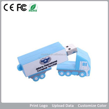 Promotional truck shape USB flash drives,PVC material gifts USB