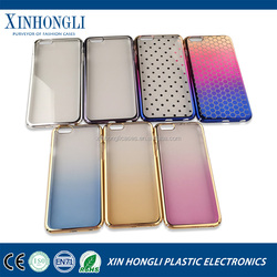 New arrival Four packets Electroplated Gradient PC Hard Case for iPhone 6