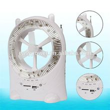 2014 Popular Radio USB SD Card Music Support Rechargeable Battery Operated Fan with Light