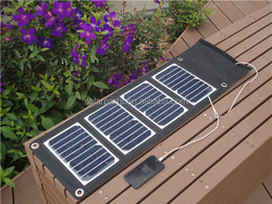 Foldable and Portable Solar Charger for USB-charged Devices