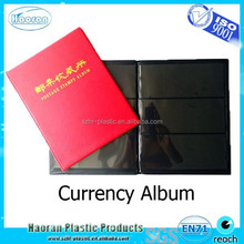 Collecting banknote paper money currency album with pp pockets