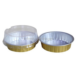 Recycled Aluminium Foil Container with Plastic Cover