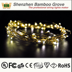 led curtain lights copper wire string lighting UL led christmas light