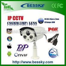 Bessky outdoor Onvif p2p 3g sim card ip camera With H.264 Vadal-proof Analog CCTV Bullet