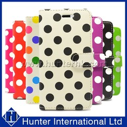 Colorful Polka Dot For iPhone6G Leather Book Case