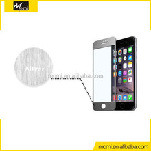 No bubbles mobile phone used tempered glass screen protective film for Iphone 6 and iphone 6 plus