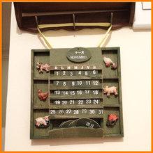 Fashion Home Decoration DIY nostalgic rustic wooden bilingual calendar / calendar / calendar 0195