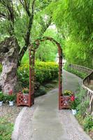 Wooden garden arch with planters ALS-7111