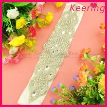 Fashion wholesale bride rhinestone belt for wedding dress