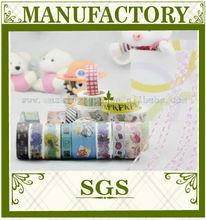 2015 wholesale free sample washi tape ,print rice paper washi tape