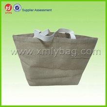 Natural Custom Jute Tote Bag and High Quality Jute Shopping Bag