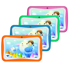 Kids Tablet W/(W/0) Silicon Rubber Case for Children 512M/4G education software colorful life