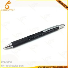 multifunctional ruler pen brand level 6 in 1 ball pen + level + ruler + screwdriver shape tool with level