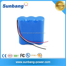 Rechargeable 18650 lithium battery long cycle life 12v 6600mah li-ion battery pack 12v car battery specifications