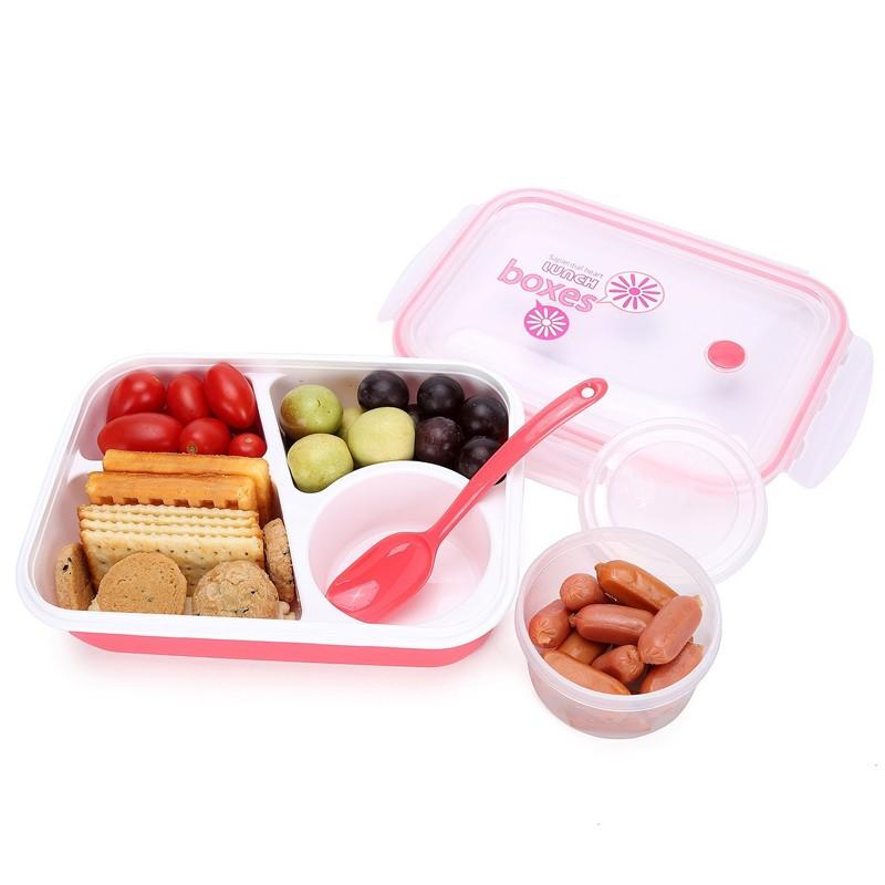 Boîte Bento Boîte À Lunch 3-compartiment 1-bowl (4 en 1) 1 ...