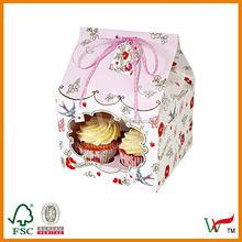HOUSE SHAPE CUPCAKE BOX FOR 4 6 12 HOLES