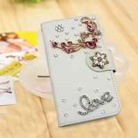 Beautiful handmade crystal diamond leather case for Huawei Ascend P8,luxury bling case for Huawei Ascend P8