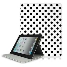 White and Black Polka Dot Pattern Hard Case For iPad 2 3 4