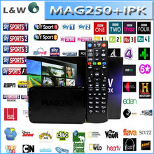 mag 250 IPTV arabic iptv internet tv box with 1 year account over 600 channels