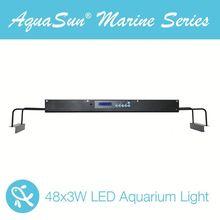 e shine auqasun 120cm reef coral aquarium tank 48x3w 144 watts led aquarium light
