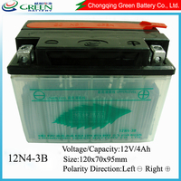 2015 green patent hot selling lead acid battery 12V for motorcycle